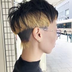 モード 刈り上げ ブリーチカラー 刈り上げショート ヘアスタイルや髪型の写真・画像