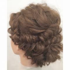 愛され ガーリー ヘアアレンジ ナチュラル ヘアスタイルや髪型の写真・画像