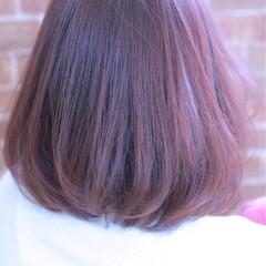 ニュアンス ピンク 色気 ボブ ヘアスタイルや髪型の写真・画像