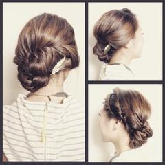 アッシュ 外国人風 ロング ヘアアレンジ ヘアスタイルや髪型の写真・画像
