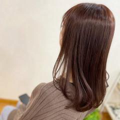 ガーリー ショコラブラウン チョコレート ブリーチカラー ヘアスタイルや髪型の写真・画像