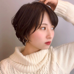 ショート アンニュイほつれヘア 可愛い 小顔ショート ヘアスタイルや髪型の写真・画像