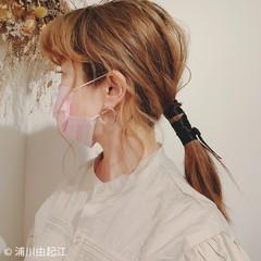 デート 簡単ヘアアレンジ ロング グラデーションカラー ヘアスタイルや髪型の写真・画像