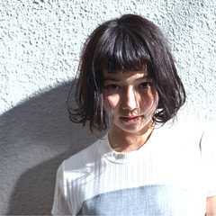 パーマ ワンレングス ボブ ショートボブ ヘアスタイルや髪型の写真・画像