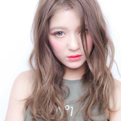 ストリート アッシュ 外国人風カラー ロング ヘアスタイルや髪型の写真・画像
