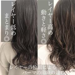 ゆるふわパーマ アッシュ ヘアスタイル デジタルパーマ ヘアスタイルや髪型の写真・画像