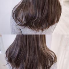 フェミニン ハイライト アッシュ 外国人風 ヘアスタイルや髪型の写真・画像