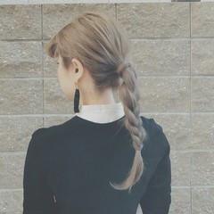 冬 クリスマス アウトドア ロング ヘアスタイルや髪型の写真・画像