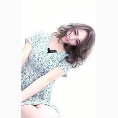 ミディアム 外国人風 アッシュ ハイライト ヘアスタイルや髪型の写真・画像
