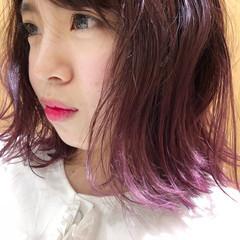 ピンク ガーリー ダブルカラー ベージュ ヘアスタイルや髪型の写真・画像