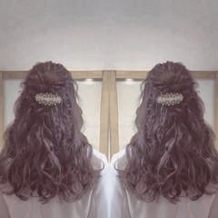 ガーリー ロング ヘアアレンジ ゆるふわ ヘアスタイルや髪型の写真・画像