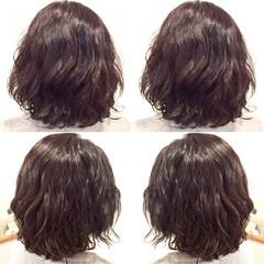 ゆるふわ ナチュラル ボブ パーマ ヘアスタイルや髪型の写真・画像