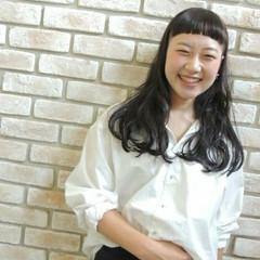 モード 黒髪 イルミナカラー アッシュ ヘアスタイルや髪型の写真・画像