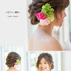 結婚式 ブライダル 大人かわいい ロング ヘアスタイルや髪型の写真・画像
