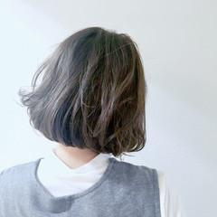 アッシュ 外国人風カラー ボブ 色気 ヘアスタイルや髪型の写真・画像