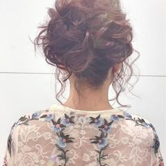 結婚式 外国人風カラー デート セミロング ヘアスタイルや髪型の写真・画像