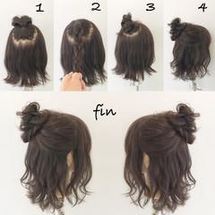 リラックス 梅雨 ヘアアレンジ アンニュイ ヘアスタイルや髪型の写真・画像