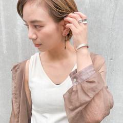 ショート デジタルパーマ ショートヘア ショートボブ ヘアスタイルや髪型の写真・画像