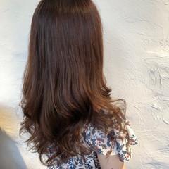 ロング ベージュ ラベンダーカラー ラベンダーピンク ヘアスタイルや髪型の写真・画像