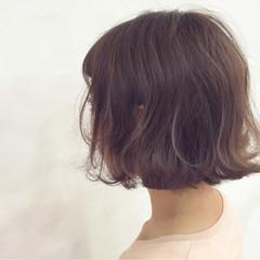 ボブ ナチュラル 色気 ピンク ヘアスタイルや髪型の写真・画像