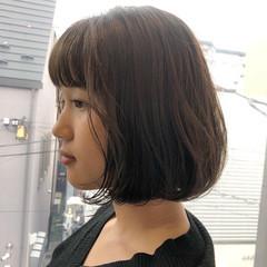 デジタルパーマ ボブ ゆるふわパーマ ナチュラル ヘアスタイルや髪型の写真・画像