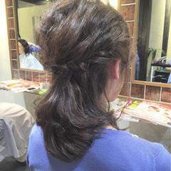 結婚式 ハーフアップ 大人かわいい ヘアアレンジ ヘアスタイルや髪型の写真・画像