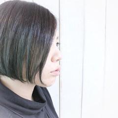 ショート モード ショートボブ グリーン ヘアスタイルや髪型の写真・画像