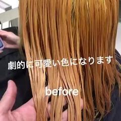 ミディアム グレージュ ナチュラル ミルクティーベージュ ヘアスタイルや髪型の写真・画像