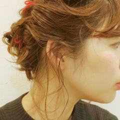 ヘアアレンジ 外国人風 簡単ヘアアレンジ ボブ ヘアスタイルや髪型の写真・画像