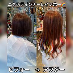ストリート 派手髪 ロング エクステ ヘアスタイルや髪型の写真・画像