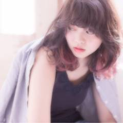 レッド 春 グラデーションカラー パンク ヘアスタイルや髪型の写真・画像