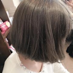 アッシュ 外国人風カラー ボブ アッシュグレー ヘアスタイルや髪型の写真・画像
