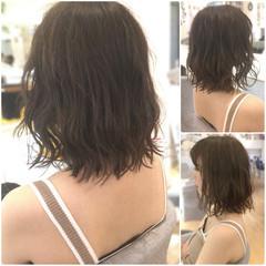 ロブ ガーリー ミディアム 外ハネ ヘアスタイルや髪型の写真・画像