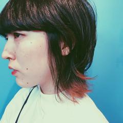 ショート モード マッシュ ウルフカット ヘアスタイルや髪型の写真・画像