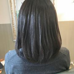 マット 黒髪 大人女子 ボブ ヘアスタイルや髪型の写真・画像