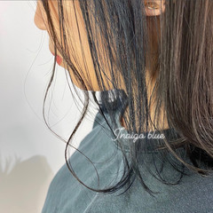 グレージュ ストリート インナーカラー ブルーアッシュ ヘアスタイルや髪型の写真・画像