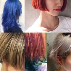 ストリート 色気 ハイライト グラデーションカラー ヘアスタイルや髪型の写真・画像