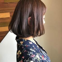 フェミニン ゆるふわ ボブ 内巻き ヘアスタイルや髪型の写真・画像