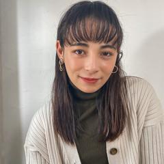 ロング フェミニン 大人可愛い ショートバング ヘアスタイルや髪型の写真・画像