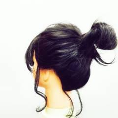 ショート 簡単ヘアアレンジ コンサバ セミロング ヘアスタイルや髪型の写真・画像