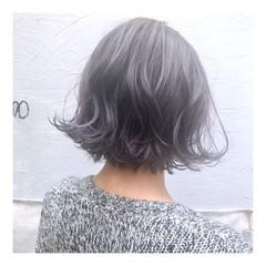 ハイトーン ショートヘア ボブ デザインカラー ヘアスタイルや髪型の写真・画像
