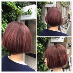 ストリート モード ピンク グラデーションカラー ヘアスタイルや髪型の写真・画像