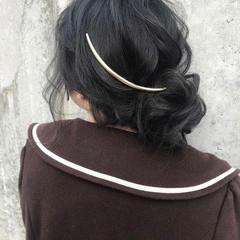 デート ロング ナチュラル ヘアアレンジ ヘアスタイルや髪型の写真・画像