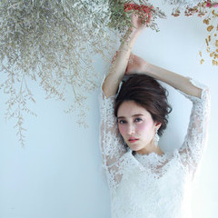 花嫁 ヘアメイク 撮影 ボブ ヘアスタイルや髪型の写真・画像