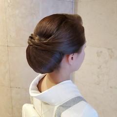エレガント セミロング ヘアセット 和髪 ヘアスタイルや髪型の写真・画像