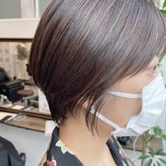 ハイライト ナチュラル ショートヘア 韓国ヘア ヘアスタイルや髪型の写真・画像