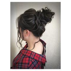 ヘアアレンジ 簡単ヘアアレンジ スポーツ ミディアム ヘアスタイルや髪型の写真・画像