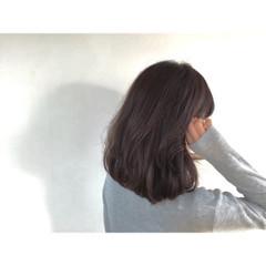 ミディアム ショート ストレート ナチュラル ヘアスタイルや髪型の写真・画像