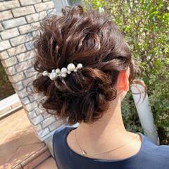 アップスタイル 結婚式ヘアアレンジ 大人女子 エレガント ヘアスタイルや髪型の写真・画像