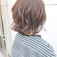 ナチュラル ボブ アンニュイほつれヘア 簡単ヘアアレンジ ヘアスタイルや髪型の写真・画像